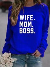 Wife Mom Boss Mothers Day Gift Mommy Mama Momma Gift Christmas Funny Sweatshirt