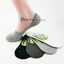 8 Pairs Lot 4 Colors Men's Bamboo Fiber No Show Loafer Boat Liner Socks footlets