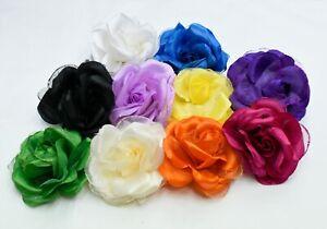 5 x  Rose Millinery Flower for Hats Fascinators 10cm Trimmings Embellishments