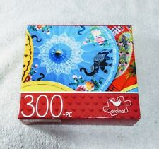 """""""PAPER PARASOLS"""" 300PC 14""""x11"""" JIGSAW PUZZLE by CARDINAL ~BNIB, FACTORY SEALED~"""