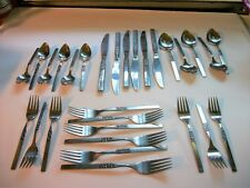 Oneida Wm A  Rogers Deluxe San Diego Stainless Steel 29 Pieces Good Condtion