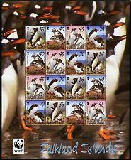 Falkland 2002 WWF Pinguine Penguins Vögel Naturschutz 855-858 ZD-Kleinbogen MNH