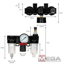 Druckluft Druckminderer Wartungseinheit Öler Wasserabscheider Manometer Filter