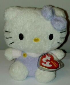Ty Beanie Baby - HELLO KITTY (FUZZY PURPLE) MINT with MINT TAGS