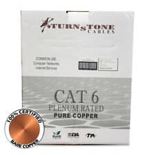 Cat6 Plenum Pure Copper 1000ft Bulk CMP White Cable