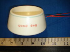 Dog Ornament Bowl Green Lined Glass Good Dog  74260G 6