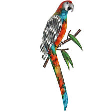 Parrot Lorikeet Metal Wall Art Bird Iron Hanging Sculpture 42cm Garden Decor