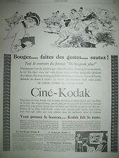 PUBLICITE DE PRESSE KODAK CINEMA CINE-KODAK MOD. R SAUT OBSTACLE FRENCH AD 1926