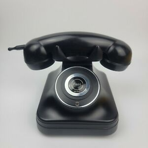 Grand Cordless Black Phone w/ Handset No.841.829 UNTESTED No Cords For Parts