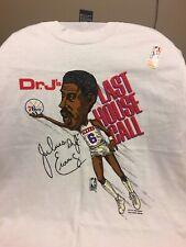 RARE-Vintage Julius Erving Dr J Last House Call XL T-shirt Phila 76ers
