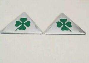 Alfa Romeo Quadrifoglio Cloverleaf Wing Badge Emblem Logo