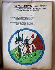 Affiche TINTIN en Amérique 1954 porte calendrier a monté ets J OBRA liège
