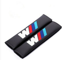 2PCS Car Carbon Fiber Seat Belt Cover Cushion Pads Embroidered Logo for BMW ///M