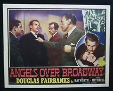 ANGELS OVER BROADWAY 1940 Rare lobby card Douglas Fairbanks Jr Rita Hayworth