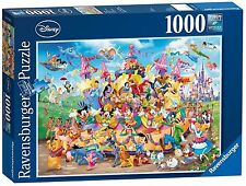 RAVENSBURGER DISNEY CARNIVAL 60 CHARACTERS 1000 PIECE JIGSAW PUZZLE NEW