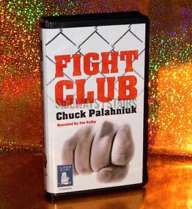 FIGHT CLUB AUDIOBOOK 5-CASSETTE Book On Tape unabridged palahniuk pitt RARE 2008