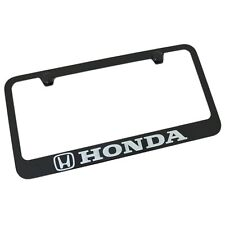 Honda Black Metal Auto License Plate Frame