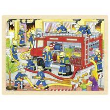 Puzzle Puzzle in Legno Puzzle Pompieri 48 Pezzi Goki 57527
