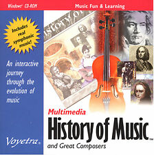 Multimedia History of Music &Great Composers by Voyetra PC CD 95/98/ME Ship Free