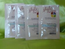 4 PUREOLOGY PURE VOLUME STYLE & CARE INFUSION SAMPLES FOR FINE COLORED HAIR