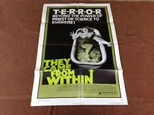 1976 They Came From Within Original Movie House Full Sheet Poster
