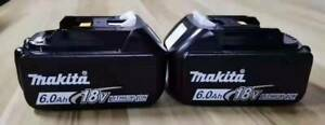 2PACK Makita BL1860B 18 Volt 6.0Ah 108Wh Lithium-Ion Battery NEW