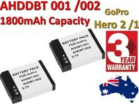 Replacement Battery AHDBT-001 for GOPRO HD Hero Hero2 Camera Helmet Surf OZ