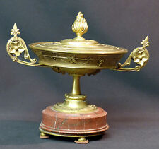 AA 19èm  belle coupe montée présentoir bronze doré marbre 1.5kg18cm urne calice