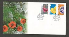 GIBRALTAR 2004 WILD FLOWERS HIGH VALUES FDC LOT 5613A