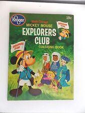 Vintage 1964 Kroger Mickey Mouse Explorers Club Coloring Book Disney
