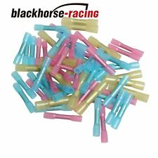 100X 10-12 14-16 18-22 AWG Heat Shrink Butt Wire Electrical Crimp Connector New