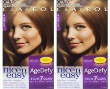 2 x CLAIROL NICE N EASY AGEDEFY PERMANENT HAIR COLOUR 6 LIGHT BROWN BRAND NEW