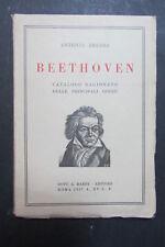 BEETHOVEN  Catalogo ragionato principali opere  Antonio Bruers  1937  G. Bardi