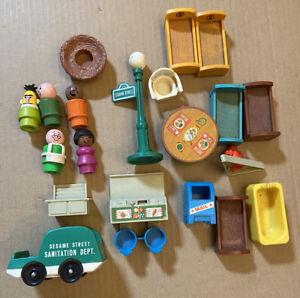 Vintage Fisher Price Sesame Street Little People Accessories SetPieces Bert