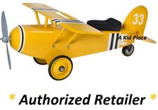MORGAN CYCLE CHILDREN'S YELLOW 33 STEEL AIRPLANE FOOT TO FLOOR RIDE-ON TOY - NEW