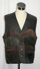 """LEATHER Winter lVEST Jacket Men MADE IN ITALY Hunting Western Over Coat C47"""" XL"""