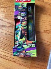 COLGATE Teenage Mutant Ninja Turtles Power Toothbrush & paste~ New in Package