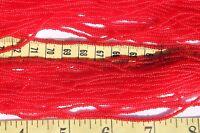 11/0 Czech Glass Seed Beads Trans Dark Red/ hank