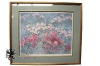 "Mathew Albert Miles ""Lilacs and Mums"" Signed Museum Quality Print Botanical Art"