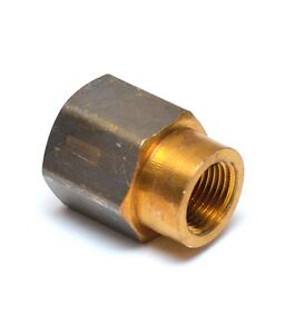 """Reducer 1/2"""" to 3/8"""" Npt Female Pipe Adapter Coupler Brass Fitting Water Oil Gas"""