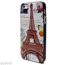 Coque protection pour Apple iphone 5 case cover-Vintage Paris Eiffel tower/tour