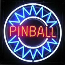 "Pinball Game Room Neon Light Sign 32""x32"" Beer Bar Decor Lamp Artwork Glass"
