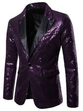 Bling Blazers Mens Sequins Show Glitter Singer Performance Suit Jacket Coat Prom