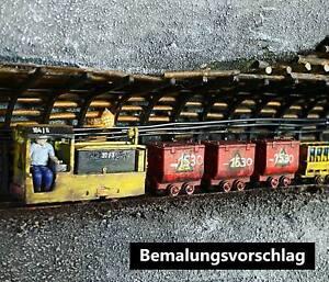 Wismut Grubenbahn B360 Akkulok H0f unbemaltes Fertigmodell Bergbau Bergwerk