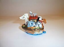 Peint Main Limoges Trinket-Noah's Ark With Removable House