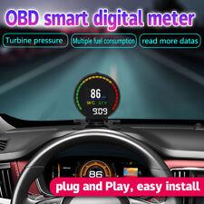 OBD2 II Car HUD MPH/KMH LCD Digital Tachometer Water Temperature Voltage Gauge
