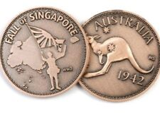 WW11 Fall of Singapore Penny  *Remembrance Day * ANZAC Day*NEW