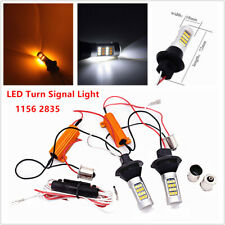 2PCS 1156 2835 42SMD White/Amber DualColor Switchback LED Turn Signal Light Bulb