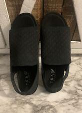 Traq By Alegria Womens Slingback Sport Sandal Black Fabric Elastic 38-8