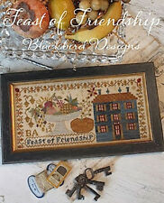 Feast of Friendship- Thanksgiving Sampler - Blackbird Designs - New Chart